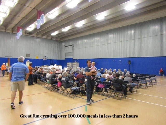 Crowd at Feed My Starving Children Event